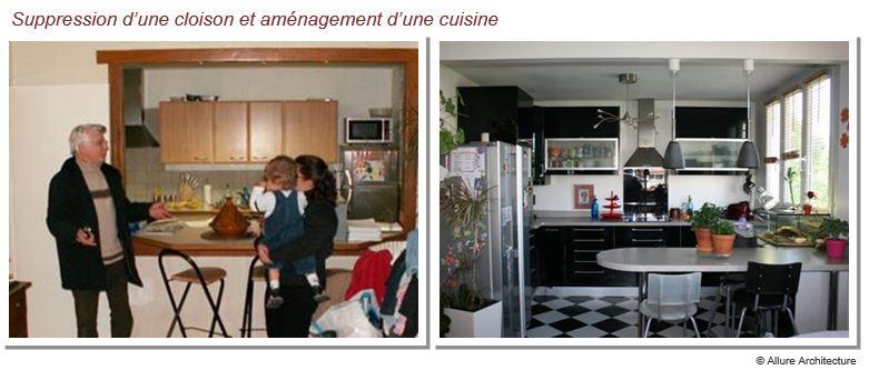 Allure architecture for Ouvrir sa cuisine sur le sejour